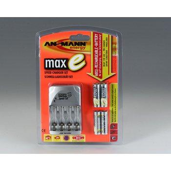 Ansmann maxE Speed-Set  nabíječka + 4xAA NiMH 2100 mAh maxE - maxE Speed Charger Set package.jpg