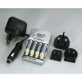 Ansmann maxE Speed-Set  nabíječka + 4xAA NiMH 2100 mAh maxE